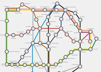 Average Monthly Price Per Desk - London Tube Map Infographic