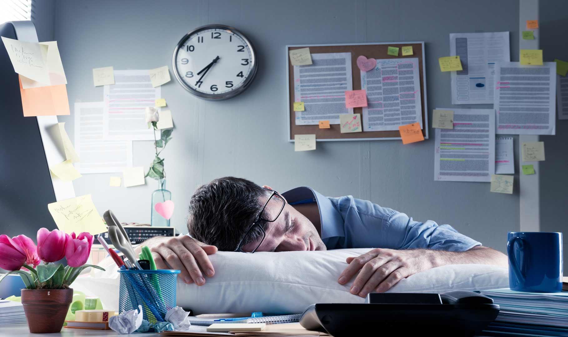 Сон на работе в картинках